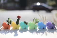 3D Printed Planter/ Cute/ Best Gift/  Pokemon/ Pocket Animal/ Succulent/ Pikachu/Bulbasaur/ Cartoon Accessories/ Valentine's Day