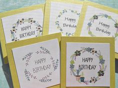 Happy Birthday Gift Cards / Birthday Gift Wrap / Gift Bag Tags