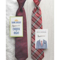 Not only do ties and tie bars add an elegant and stylish statement to any man's attire, but they also make for a perfect stocking stuffer! Lds Books, Missionary Mom, Free To Use Images, Baptism Gifts, High Quality Images, Elegant, Stylish, Ties, Clothes