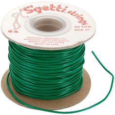 Pepperell S'getti Strings Plastic Lacing 50yd-Kelly Green - Kelly Green
