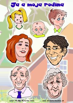 Ja a moja rodina - Rozprávame a dopĺňame slovnú zásobu.