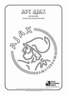 Cool Coloring Pages - Soccer Clubs Logos / AFC Ajax logo / Coloring page with AFC Ajax logo