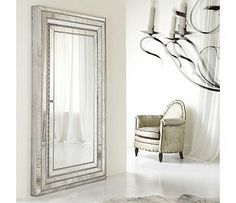Hooker Furniture Melange Glamour Floor Mirror, with Jewelry storage on the inside!