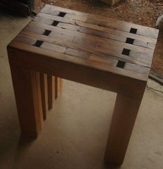 This table is made entirely from recycled 2X4's.