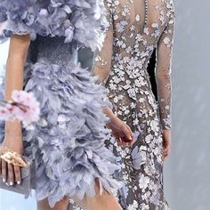 SnapWidget | Lavender plumes and laser-cut taffeta by @ralphandrusso #inspiration #fashion #fabric #plume #instadesign #bykoket #trends