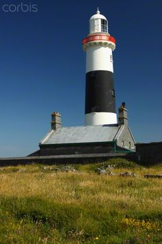 B And B Aran Islands Lighthouse on Inisheer island, smallest of the Aran islands, off the ...