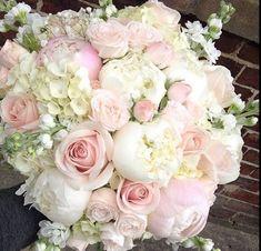 Bouquet by . Vintage Wedding Flowers, Wedding Table Flowers, Bridal Flowers, Flower Bouquet Wedding, Floral Wedding, Bride Bouquets, Bridesmaid Bouquet, Wedding Themes, Wedding Decorations
