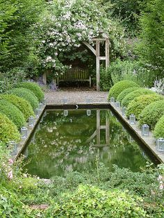 Reflecting pool garden room