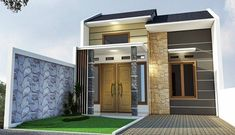 41 Simple Minimalist 1 Floor Model Homes -As we know that how to choose the latest home design models that we are always looking for buildin. Minimalist House Design, Minimalist Home, Modern House Design, Latest House Designs, Cool House Designs, Bungalow House Design, Interior Concept, Affordable Housing, Story House