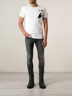 Kris Van Assche Appliqué Houndstooth T-shirt - Layers - Farfetch.com