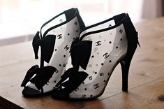 DIY these Chanel Bow Bootie beauties.