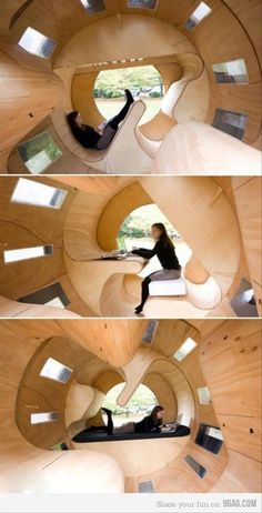 I Love Unique Home Architecture. Simply stunning architecture engineering full of charisma nature love. The works of architecture shows the harmony within. Awesome Bedrooms, Cool Rooms, Awesome Beds, Awesome House, Architecture Design, Japanese Architecture, Cool Inventions, Dream Rooms, House Rooms