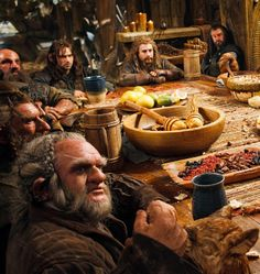 At Beorn's table. -Lucy