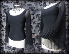 Gothic Romantic Black Sheer Angel Wing Top 8 Vampire Goth Medieval Alternative | THE WILTED ROSE GARDEN on eBay // Worldwide Shipping Available
