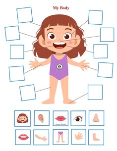 Body Parts Preschool Activities, 5 Senses Activities, Body Preschool, Free Activities For Kids, Autism Activities, Free Preschool, Preschool Themes, Preschool Printables, Preschool Spanish Lessons