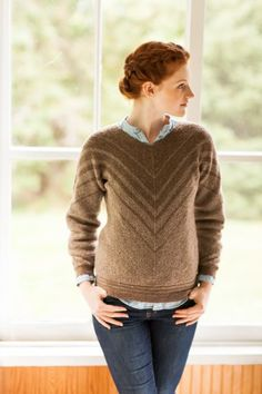 BrooklynTweed - mitred chevron pullover