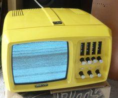 TV Fernseher MINI-VIDI Vintage 60-/70er Portable TV