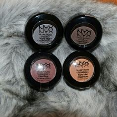 4 NYX Nude Matte Shadow 4 BRAND-NEW  NYX Nude Matte Shadow *NMS15 Skinny dip *NMS21 Craving *NMS19 Haywire  *NMS08 Blame it on Midnight Check out my closet NYX Makeup Eyeshadow