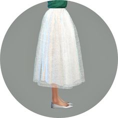 Voluminous long flare skirt at Marigold via Sims 4 Updates