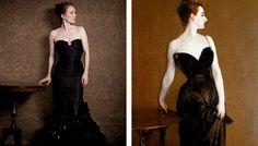 "Julianne Moore recreating ""Famous Works of Art"""