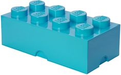 Buy LEGO Movie Storage Brick 8 (Bright Blue) online and save! Keep your toys and clutter tidy in this square LEGO storage box. A square glossy plastic storage box with 4 knobbly bits that looks just like the Lego. Lego Storage Boxes, Lego Storage Brick, Toy Storage Bench, Kids Storage, Lego Brick, Toy Boxes, Storage Ideas, Plastic Storage, Lego For Kids