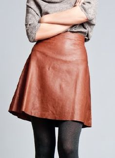 Love the throwback leather womanly look
