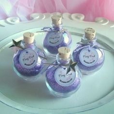 Party Favors - 4 bottles of Magical Purple FAIRY DUST with mini wand