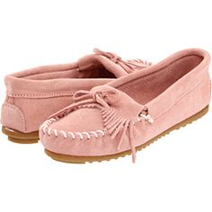 Pale pink minnetonkas. Perfect spring shoes.