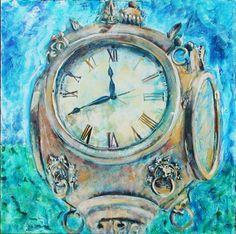 2011 the artist Carol Jones, New Bern, Contemporary Artwork, Lisa, Clock, Website, Abstract, Gallery, Artist