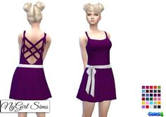 NY Girl Sims: Cross Back Sundress with Sash and Bow • Sims 4 Downloads