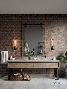 51 Industrial Style Bathrooms Plus ideas and accessories that you can copy . - 51 Industrial Style Bathrooms Plus ideas and accessories that you can. Industrial Bathroom Design, Urban Decor, Diy Industrial Lighting, Bathroom Styling, Industrial Style Bathroom, Bathroom Mirror, Industrial Bathroom Lighting, Amazing Bathrooms, Bathroom Design