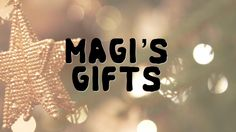 The Magi's Gifts - Pastor Conor Berry, Matthew 2:1-12