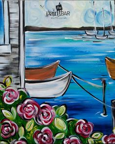 Swan Boats from The Paint Bar • Acrylic Canvas Painting