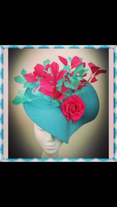 Teal and Hot Pink piece  SOLD
