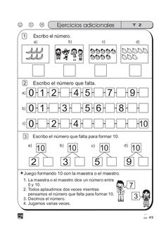 Guía de matemáticas para primer grado (ejercicios) I School, Teaching, Math, Sayings, Anime, First Grade Assessment, 5th Grade Math, Writing Exercises, Anime Shows