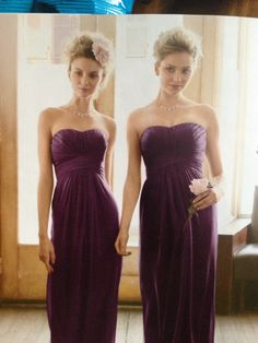 David's Bridal-Plum style F15555 Love this color!!!!