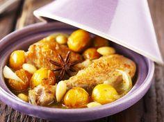 Avec les lectrices reporter de Femme Actuelle, découvrez les recettes de cuisine des internautes : Tajine de poulet aux Mirabelles de Lorraine