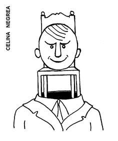Caricatura de CELINA NEGREA, publicata in almanahul PERPETUUM COMIC '97 editat de URZICA, revista de satira si umor din Romania
