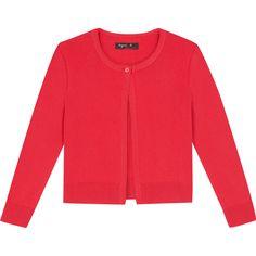 cardigan mini sésame rose cardigan cardigan maille coton peigné, douce et fine, une silhouette courte fermée par bouton unique.