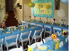 mesas de dulces baby shower niño color verde - Buscar con Google