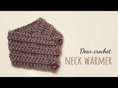 뜨개질)코바늘 핑거레스 글로브 워머 두가지 스타일 – 루즈핏 & 숏 (crochet fingerless gloves) - YouTube