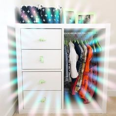 10 Bedroom Wardrobe & Cabinet Upcycled ideas 2 DIY Wardrobe idea for Toddler from IKEA's standard ch Ikea Kids Wardrobe, Ikea Hack Kids Bedroom, Baby Wardrobe Ideas, Ikea Nursery, Diy Wardrobe, Ikea Bedroom, Bedroom Wardrobe, Ikea Childrens Wardrobe, Small Childrens Bedroom Ideas