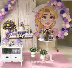 Rapunzel Birthday Cake, Tangled Birthday Party, Sofia The First Birthday Party, Birthday Party Snacks, Birthday Party Centerpieces, Gold Party Decorations, 4th Birthday Parties, Princess Birthday, Birthday Decorations
