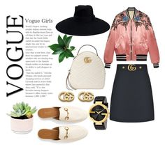 """thats a completed Look from : GUCCI😂"" by tumblrt ❤ liked on Polyvore featuring Gucci"