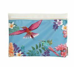 pochette bleu, colibri, colibri pearl, home spirit, imprimé oiseaux, birds, bleu, collection printemps été 2015
