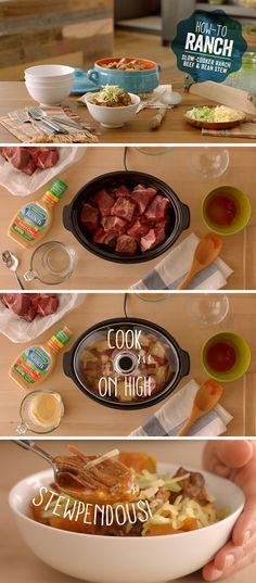 Take it low and slow with this easy and delicious slow cooked beef stew recipe. Just set it and forget it. Recipe and link below!   Recipe link: http://hiddnval.ly/LvJCYY