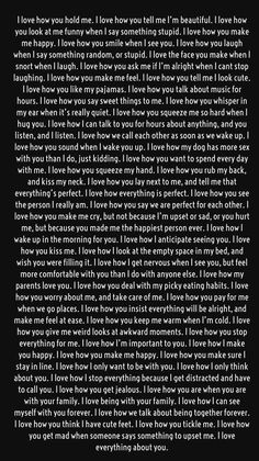 Long love quotes - Secrets To Getting Your Girlfriend or Boyfriend Back I love how pure your heart is I love how sensitive you are I love how you break me just to put back again I love when I know you passed me on Long Love Quotes, Love Quotes For Her, Love Notes For Him, Sweet Sayings For Him, Goodbye Quotes For Him, Missing You Quotes For Him, My Feelings For You, Cute Relationship Texts, Cute Relationships