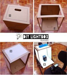 A step-by-step tutorial on how to make your own lightbox quick cheap and e diy food