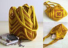 DIY: 12 Ideias de bolsa de crochê #1 Free Crochet Bag, Crochet Purse Patterns, Crochet Diy, Crochet Purses, Love Crochet, Crochet Stitches, Girls Bags, Crochet Projects, Purses And Bags