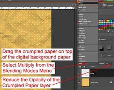 Crumpled Paper (Photoshop Elements)